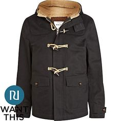 Navy duffle jacket | River Island | $87.25