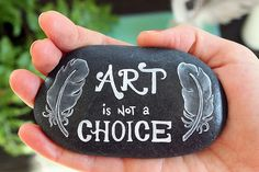 Art is Not a Choice - beautiful artwork, jewelry, and painted rocks/stones by Umber Dove.  I love her work!!