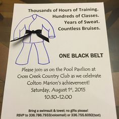 Visit the post for more. Taekwondo Belt Display, Black Belt Taekwondo, Taekwondo Belts, Karate Party, Karate Birthday, Karate Gi, Birthday Fun, Jiu Jitsu, Tang Soo Do
