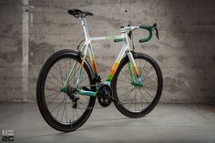 Like the Death Valley sign, this Argonaut Cycles road bike uses nature's atmospheric layering as inspiration for a bright and sunny paint design, perfect for summer rider. See more at the Above Categ...