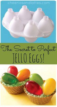 The Secret to PERFECT JELLO Eggs!; plus a link to order a FREE JELLO egg mold! // cheeriosandlattes.com
