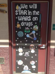 Red Ribbon Week door idea-Star Wars Angry Birds