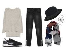 Sin título #78 by ireneene on Polyvore featuring moda, NIKE, Forever 21 and Bershka