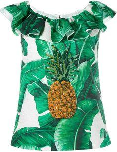 Dolce & Gabbana sequinned pineapple brocade top