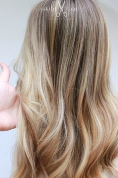 By Emily Economides @emilyecohair Beige natural golden platinum hair. Babylights and balayage with smudge root using all Redken. Neutral summer blonde, healthy blonde hair.