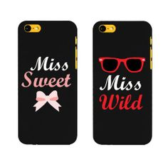 im miss wild ;) BFF Phone Covers Miss Wild and Miss Sweet Matching Phone Cases for Iphone Gift for Best Friends by 365 in love Best Friend Cases, Bff Cases, Friends Phone Case, Ipod Cases, Cool Iphone Cases, Cute Phone Cases, Iphone Phone Cases, Iphone Case Covers, Cases For Phones