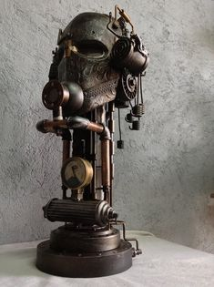 The Best Steampunk Contraptions, Art & Costumes of the Week Lampe Steampunk, Steampunk Artwork, Steampunk House, Steam Art, Steam Punk, Design Steampunk, Steampunk Furniture, Steampunk Interior, Art Costume