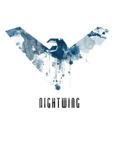 Logos For > Nightwing Symbol Blue   Nightwing   Pinterest ...