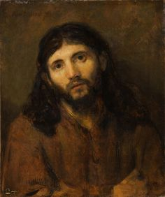 "Attributed to Rembrandt van Rijn, ""Head of Christ"""