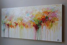 (Gracias por mirar! Pásate por mi tienda para pinturas originales más aquí: http://www.etsy.com/shop/mimigojjang?ref=si_shop ****************************************************************************** Descripción de la obra de arte  Acrílico sobre lienzo -Título: abstracto pintura -TAMAÑO: 48 x24 x 1, pulgada de 5 d  -MEDIO:... Acrílicos profesionales en lona de algodón 100% en barras de madera del ensanchador.  Los lados son de color blancos  -LIENZO firmado y fechado en frente o detrás…