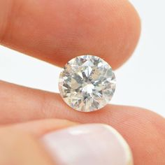Round Brilliant 4 Carat G Color SI2 Natural Enhanced Diamond For Engagement Ring #MyDiamonds