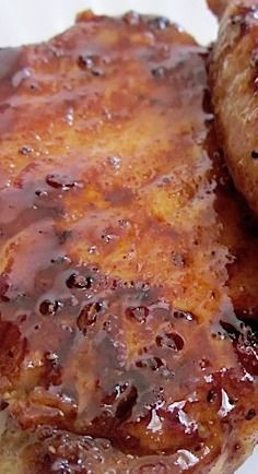 Glazed Pork Chops ~ Brown Sugar, Cayenne, Garlic, Paprika, and Salt & Pepper... Super easy and very tasty!