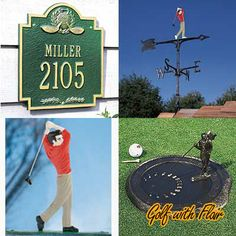 Create An Outdoor Golf Decor Extend Your Themed Outdoors With Our House Signs