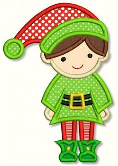 Embroidery Designs - Boy Elf Applique 4x4 5x7 6x10 - Welcome to Lynnie Pinnie.com! Instant download and free applique machine embroidery designs in PES, HUS, JEF, DST, EXP, VIP, XXX AND ART formats.