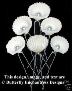 Sea Shell Bridal Hair Pins Beach Wedding Veil on eBay!