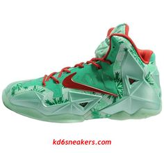 best website 7bffb b10f6 Nike LEBRON XI Chrismas LBJ11 Basketball Shoes fashion