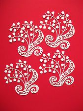 New: 10 x Tattered Lace Lily Of The Valley Die Cuts: White