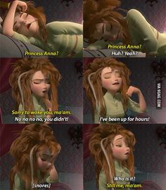 The only realistic presentation of how women wake up..!