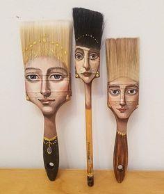 Epic paintbrush design by @alexandradillonartist #paint #paintbrush #brush #hair #hairstyle #haircolor #haircut #hairart #design #artist #decorate #homedecor #designbunker #diy