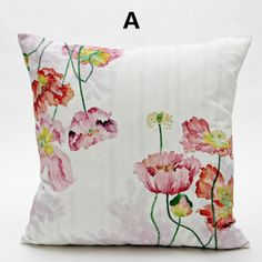 Flower throw pillow Chinese style couch cushions for home decoration