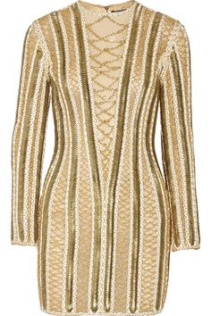 Balmain Embellished silk-organza mini dress