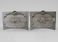 Large pair of Louis XV style door tops in wood and painted stucco, c. (Reference - Available at Gallery Marc Maison Style Louis Xv, Rococo Style, Architectural Antiques, Decorative Panels, Wood Paneling, Interior Decorating, Interior Design, French Antiques, 19th Century