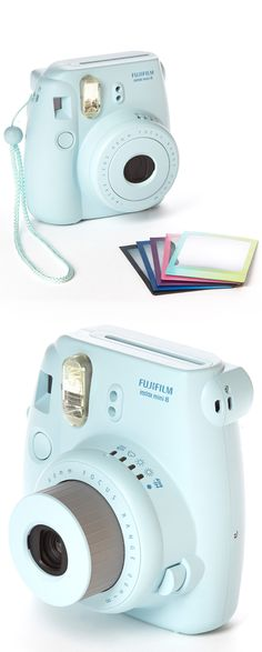 Fujiflim Instax Mini 8 Camera & Polaroid Film Set // so fun to have instant photos! #product_design