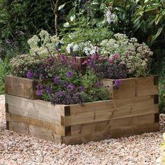 Hochbeete im Garten bauen - 19 Ideen aus verschiedenen Materialien