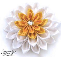Commission: Sunshine Lily Kanzashi by ~SincerelyLove on deviantART