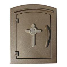 Qual Arc MAN-1403 Manchester Non-Locking Cross Column Mount Mailbox