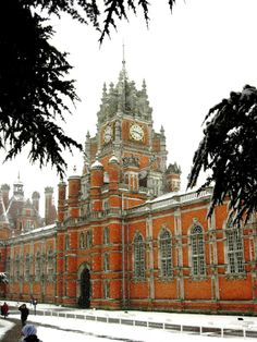 Royal Holloway University of London. Founded in 1879 by the Victorian entrepreneur and philanthropist Thomas Holloway, opened by Queen Victoria as an all-women's college