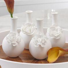 4 Piece Cameo Bud Vase Set