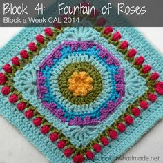Block 41: Fountain of Roses Square {Photo Tutorial} crochet Photo