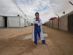 Rama, 13, future doctor | Refugee Girls Got To Dress Up As What They Want To Be When They Grow Up