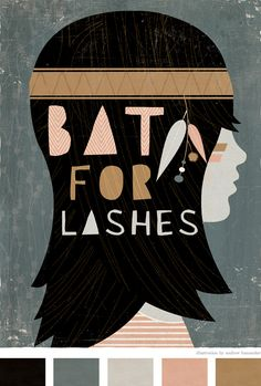 Bat for Lashes Art Print by Andrew Bannecker. See more of his work in his portfolio, blog, and shop.