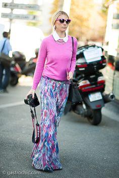 Maxiskirt and Sweater, Outside Kenzo Street Chic, Street Style, Wardrobes, Kenzo, Summer Outfits, Boho, Yellow, My Style, Womens Fashion