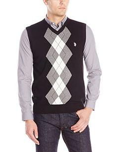 U.S. Polo Assn. Men's Argyle Sweater…