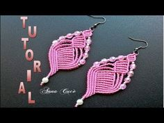 "Tutorial macramè orecchini ""Isabel""/ Tutorial macramè earrings ""Isabel""/ Diy tutorial - YouTube"