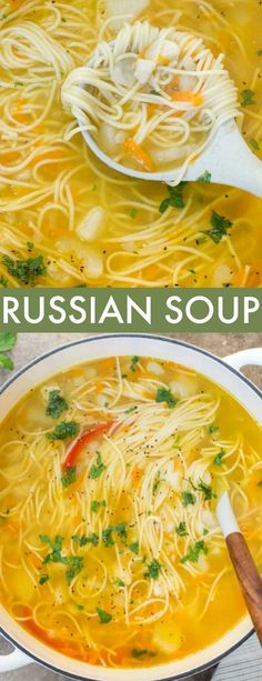 Simple Russian Soup recipe is classic comfort food. The soup is loaded with seasoned meat, potatoes, noodles and vegetables.This Simple Russian Soup recipe is classic comfort food. The soup is loaded with seasoned meat, potatoes, noodles and vegetables. Whole30 Soup Recipes, Best Soup Recipes, Vegetable Soup Recipes, Cooking Recipes, Healthy Recipes, Vegetable Noodle Soup, Keto Recipes, Simple Soup Recipes, Comfort Food Recipes