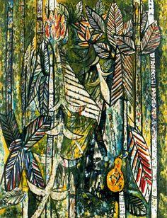 'Fruta bomba y caña' (Papaya and Cane) by Wilfredo Lam, 1941