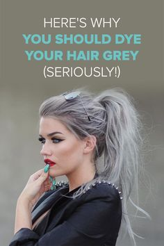 From white-hot titanium tresses to highlighted charcoal hues, we're talking all kinds of cool grey colors.