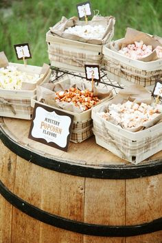 DIY Wedding Popcorn Bar Favorites