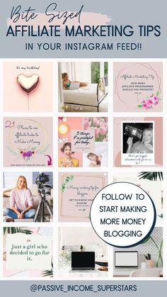 Follow @passive_income_superstars on Instagram if you want bite-sized affiliate marketing tips directly in your Instagram feed. No need to plough through in-depth articles, Instead learn affiliate marketing strategies in your coffee-break and start making money blogging. Includes tips for affiliate marketing for beginners and more advanced strategies.#passiveincome #affiliatemarketing #bloggingtips #blogging #affiliatemarketingtips Marketing Strategies, Media Marketing, Digital Marketing, Make Money Blogging, How To Make Money, Blogger Tips, Blogging For Beginners, Coffee Break, Passive Income