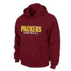 Wholesale Men Green Bay Packers Authentic Font Pullover Hoodie - Red_Green Bay Packers Pullover Hoodie