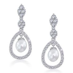 Bling Jewelry has the bridal earrings of your dreams. We carry the finest silver bridal earrings & wedding jewelry available so you can look your best when it truly matters Teardrop Pearl Earrings, Silver Drop Earrings, Bridal Earrings, Women's Earrings, Wedding Jewelry, Wedding Accessories, Silver Ring, Hair Accessories, Chandelier Earrings