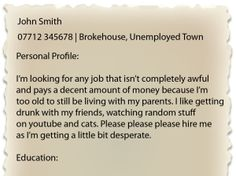 cv-personal-profiles-advice-from-the-people-in-the-know - To know more visit our site ~ http://graduate-rescue-blog.com/