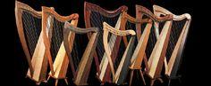 Dusty Strings harps, Seattle, WA; My 36string babinga is a Dusty.