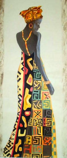 Cuadros Modernos Pinturas : Cuadros de Mujeres Africanas Pintadas American Art, Abstract Art Painting, Christmas Art, Culture Art, Female Art, African Women Painting, Art, African Culture, Africa Art