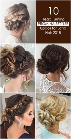 10 Head Turning Prom Hairstyles Updos for Long Hair 2018 Who does not worry about their looks in pro Prom Hairstyles Updos For Long Hair, Night Out Hairstyles, Short Hair Updo, Bun Hairstyles, Edgy Updo, Half Up Half Down Hair Prom, Simple Ponytails, Short Hair Styles Easy, Super Hair