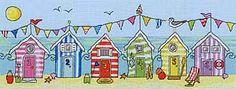 Beach Hut Fun Cross Stitch Kit by Bothy Threads